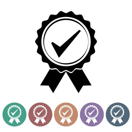 Quality control icons set.Vector illustration