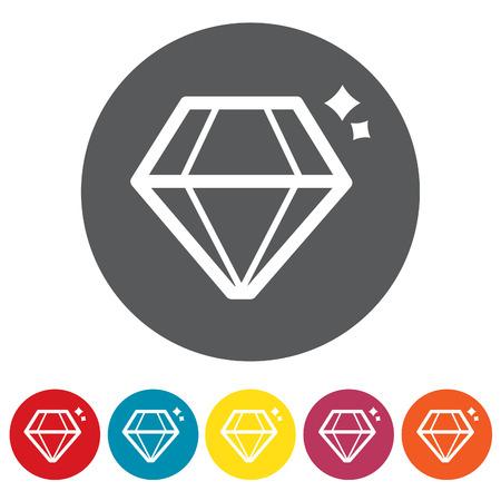 Diamond icons set.Vector illustration