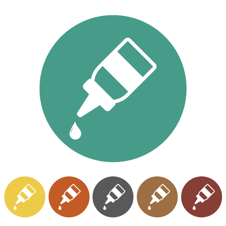 Eye drops icons set.Vector illustration