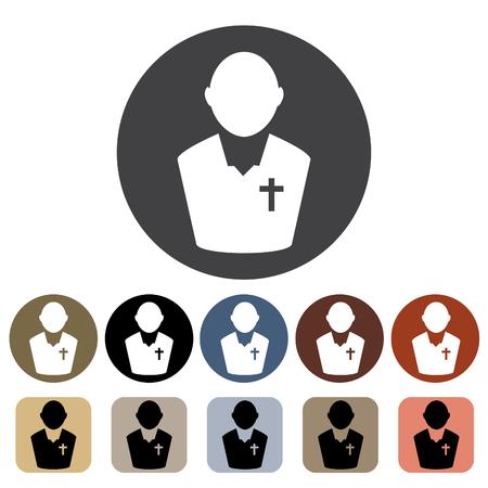 Clergyman icon set.