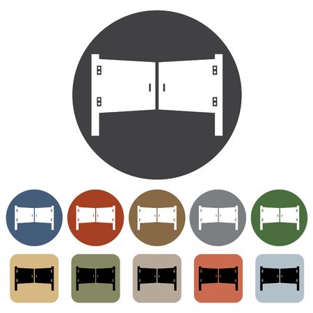 doorknob: Door, window icon set. Illustration