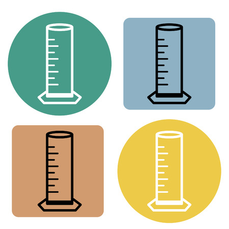Cylinder for lab science icon. Vector illustration.