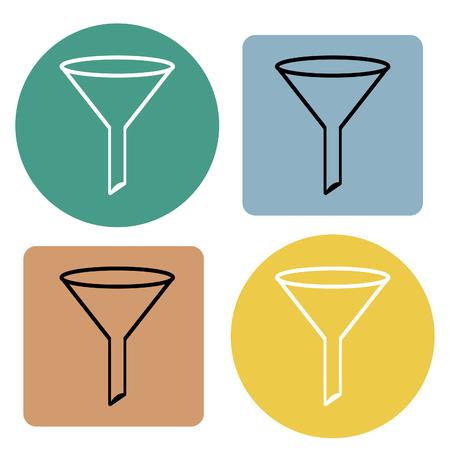 Funnel filter icon. Vector illustration. Illustration