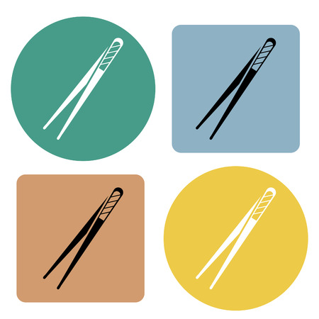 Forcep icon. Vector illustration. Illustration