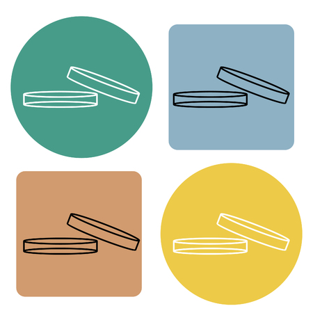 Plate for lab science icon. Vector illustration. Vectores
