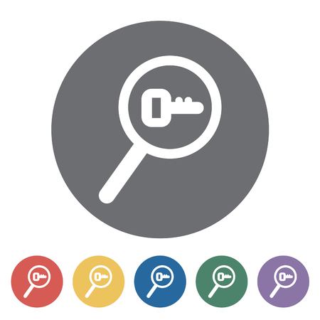 keyword: Research keyword icon. Vector illustration. Illustration