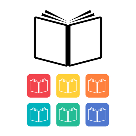 Book icon. Vector illustration.