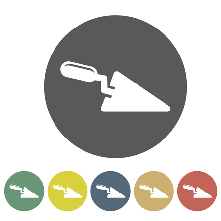 Trowel icon set.Vector illustration Illustration