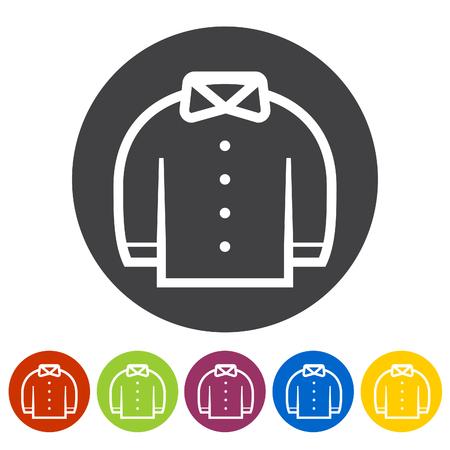 Shirt icons. Vector illustration.