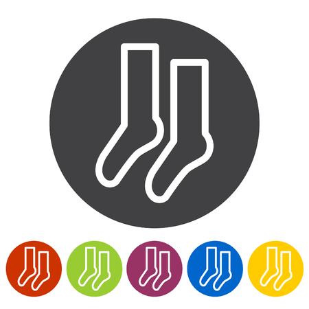 Sock icons. Vector illustration.