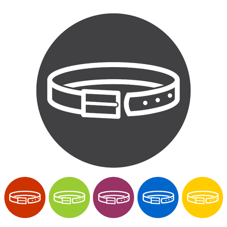 Waistband icons. Vector illustration. Illustration