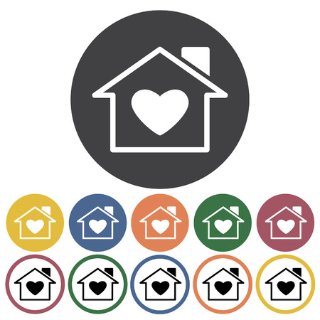 Charity, donation and volunteer work concept icons. Vector Illustration