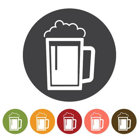 Beverage, beer drink icons. Vector illustration.  イラスト・ベクター素材