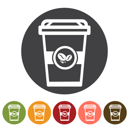 Beverage, coffee drink icons. Vector illustration.