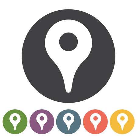 Map pointer and location icons. Vector illustration.