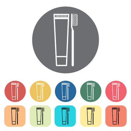 Toothbrush icons. Vector illustration. Illusztráció