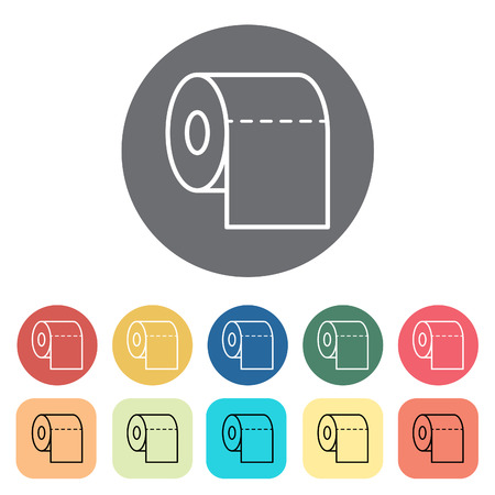 Toilet paper icons. Vector illustration.
