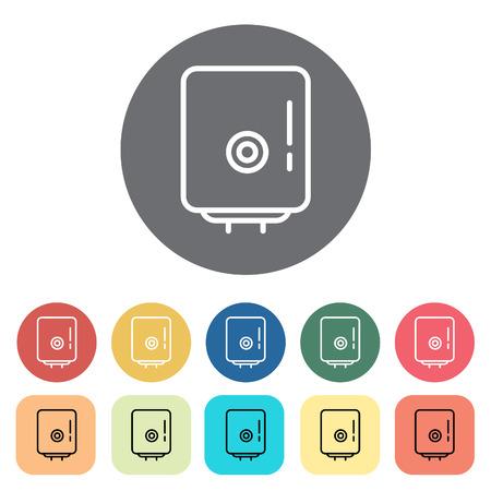 Boiler icons. Vector illustration.