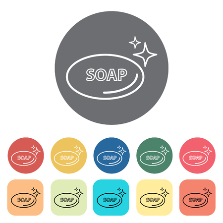 Soap icons. Vector illustration.