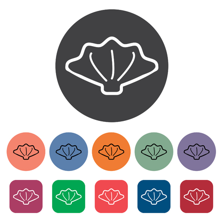 Shell Icons Set . Vektor-Illustration Standard-Bild - 98432184