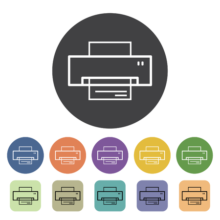 Fax icons set. Vector illustration.