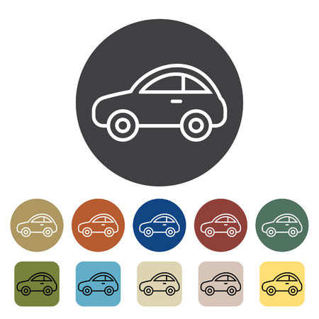 Transport and vehicle. car icons set. Outline icons collection. Vector illustration.