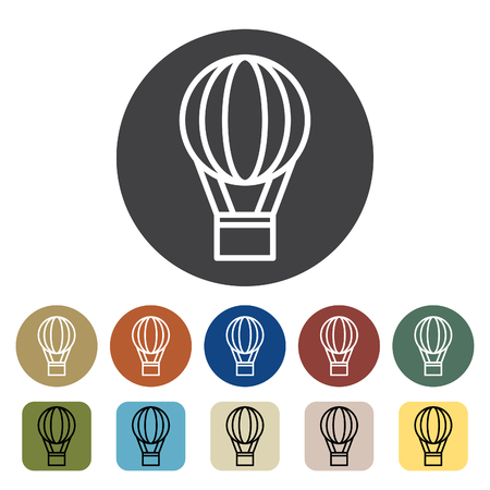 Transport and vehicle. balloon icons set. Outline icons collection. Vector illustration. Çizim