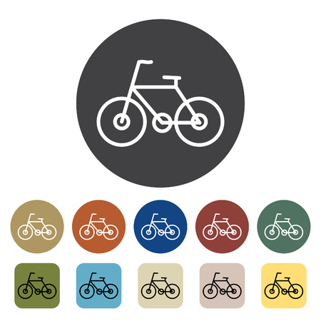 Transport and vehicle. bike icons set. Outline icons collection. Vector illustration.
