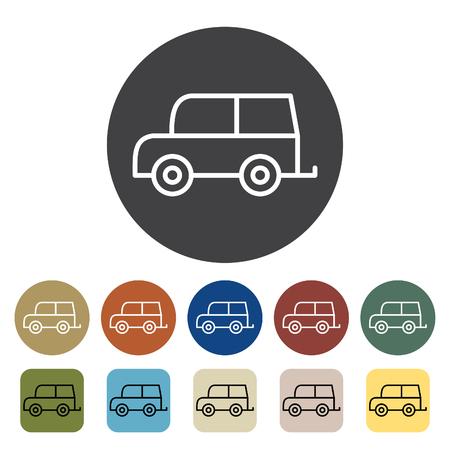 Transport und Fahrzeug . Auto-Icons eingestellt . Gliederung Icons Sammlung . Vektor-Illustration Standard-Bild - 99149046
