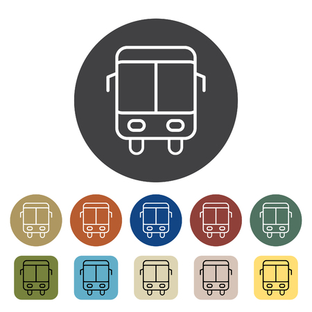 Transport and vehicle. shuttle icons set. Outline icons collection. Vector illustration.