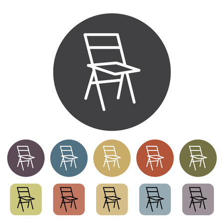 Chair, sofa and seating icons set. Outline icons collection. Vector illustration. Standard-Bild - 105098432