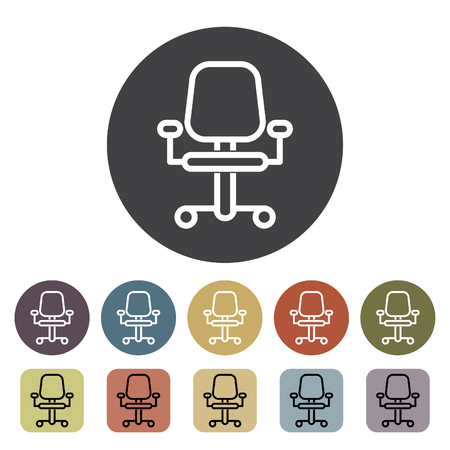 Chair, sofa and seating icons set. Outline icons collection. Vector illustration. Standard-Bild - 105098436