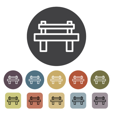 Chair, sofa and seating icons set. Outline icons collection. Vector illustration. Standard-Bild - 105098441