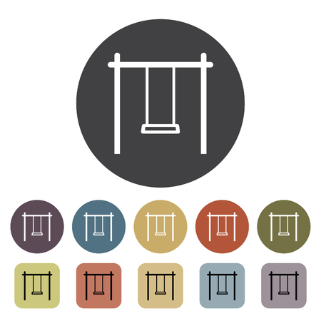 Swing icons set. Outline icons collection. Vector illustration.