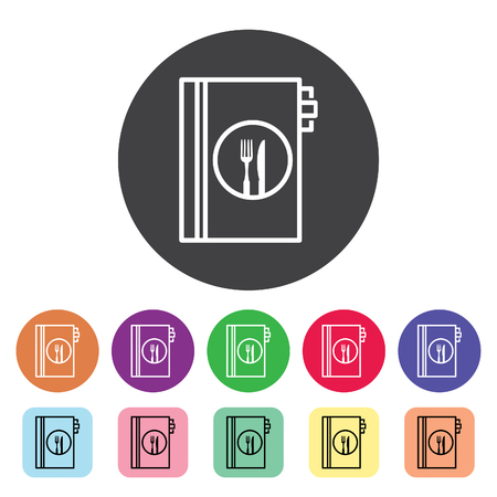 Menu outline icons set. Vector illustration.