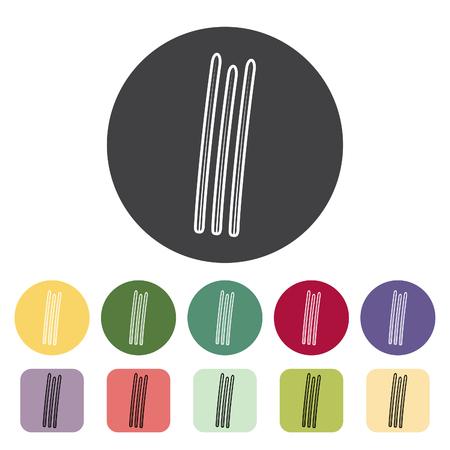 String bean icon collection. Vector illustration. Çizim