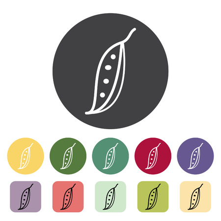 Snow pea icon collection. Vector illustration.  イラスト・ベクター素材