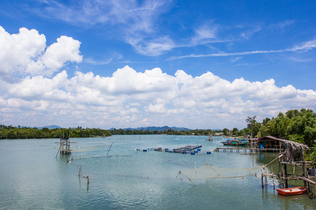 rearing of fish: marine fish farming in the south of Thailand