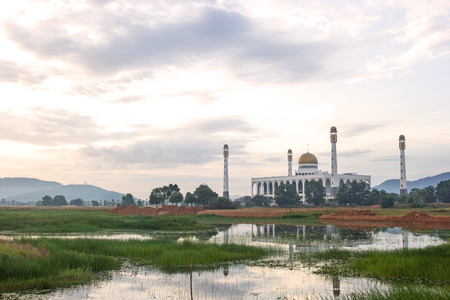hymn: Center Mosque in Songkla Province, Southern Thailand. Stock Photo