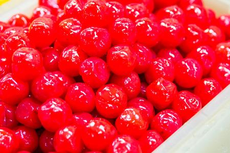 maraschino: red cherry