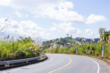 Road in mountains at Nan province, Thailand