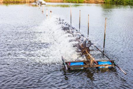 environmental sanitation: Water turbine working in pool