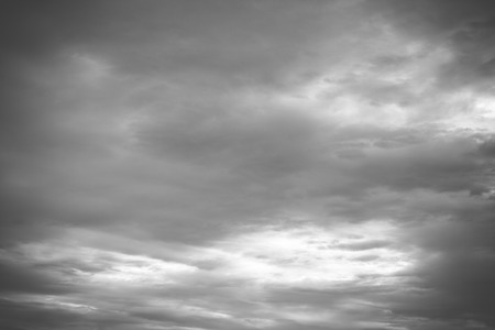 grey  sky: Grey sky with white and black clouds Stock Photo