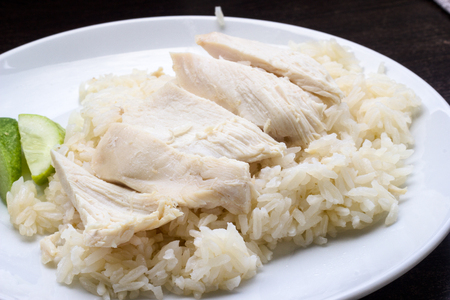 oiled: Hainan chicken with oiled rice