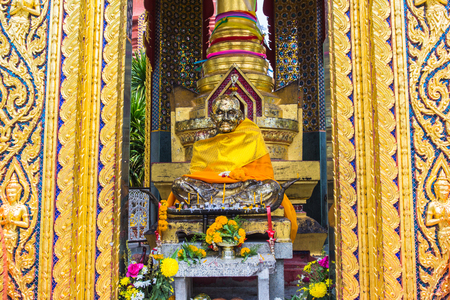 pattani thailand: Buddha statue at Temple( wat chang hai) located in southern Thailand Pattani religious attractions. Foto de archivo