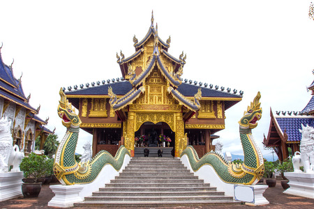 Beautiful place of worship with religious teachings in Chiangmai Thailand, Wat Baan Den