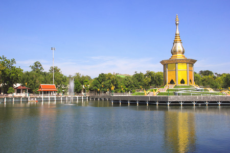 nirvana: Tripitaka Hall in Pa Kung Temple at Roi Et of Thailand