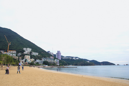 repulse: HONG KONG - DEC7, 2015 : Repulse Bay, is a bay in the southern part of Hong Kong Island and nearly Kwun Yim Shrine is a Taoist shrine at the southeastern end of Repulse Bay.