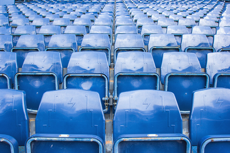 abandon: Empty seats at Football stadium