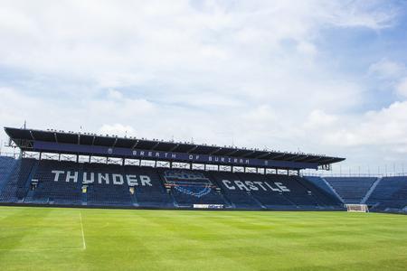 BURIRAM, THAILAND - SEP15, 2016 : i-mobile Stadium on May 11, 2016.The i-mobile Stadium is the largest football stadium in Thailand. Editöryel